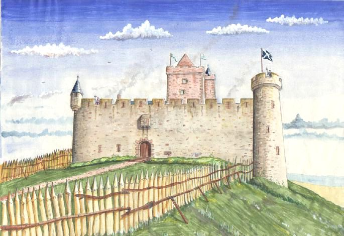 Hume Castle Reconstuction by Andrew Spratt