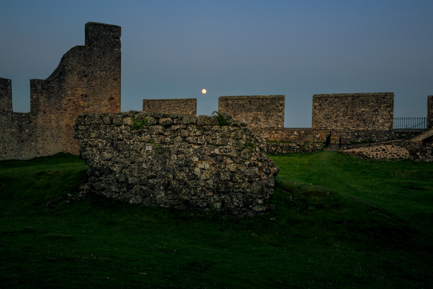 Full moon from within Hume Castle